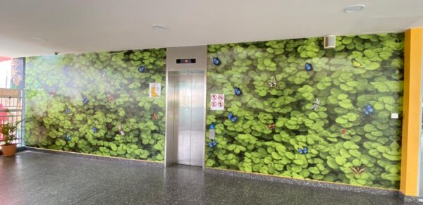 wall mural for public malls