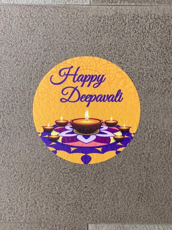 deepavali floor sticker
