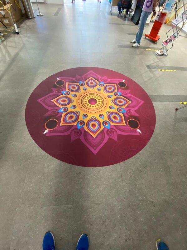 deepavali floor sticker 2